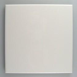 Hvid flise 15 x 15 cm med lige hjørner