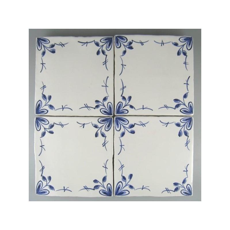 Nostalgi fire-blomst - Romantisk frise med håndmalet dekoration