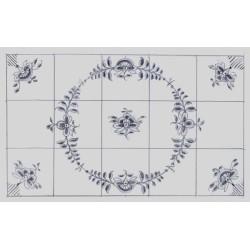 Nostalgi - Frise med håndmalede fliser med et rundt Nostalgi-mønster