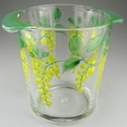 Håndmalet champagnekøler / vinkøler i glas med dekoration Guldregn