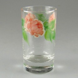 Glas til børn med rosendekoration