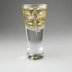 Shotglas / dramglas med dekoration Hvid Nostalgi