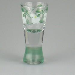 Håndmalet shotglas / dramglas med Vintergæk