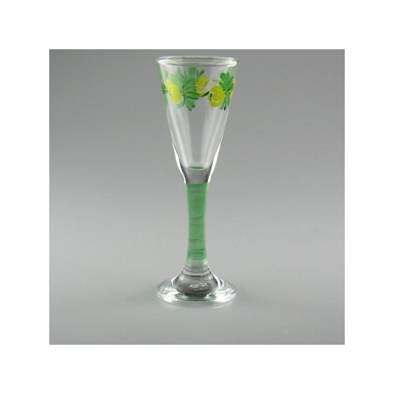 Håndmalet snapseglas med Erantis