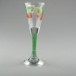 Håndmalet snapseglas med Jordbær