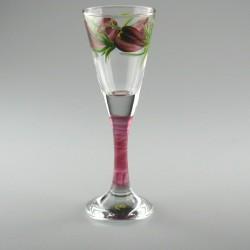 Håndmalet snapseglas med Krokus