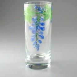Håndmalet ølglas / longdrinkglas med Blåregn
