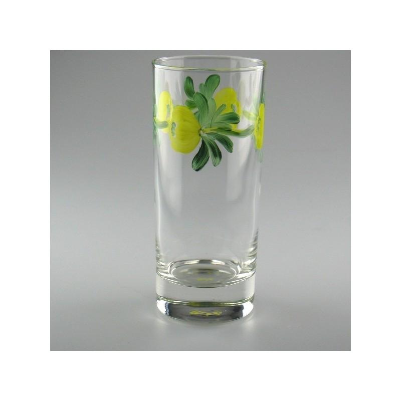 Håndmalet ølglas / longdrinkglas med Erantis