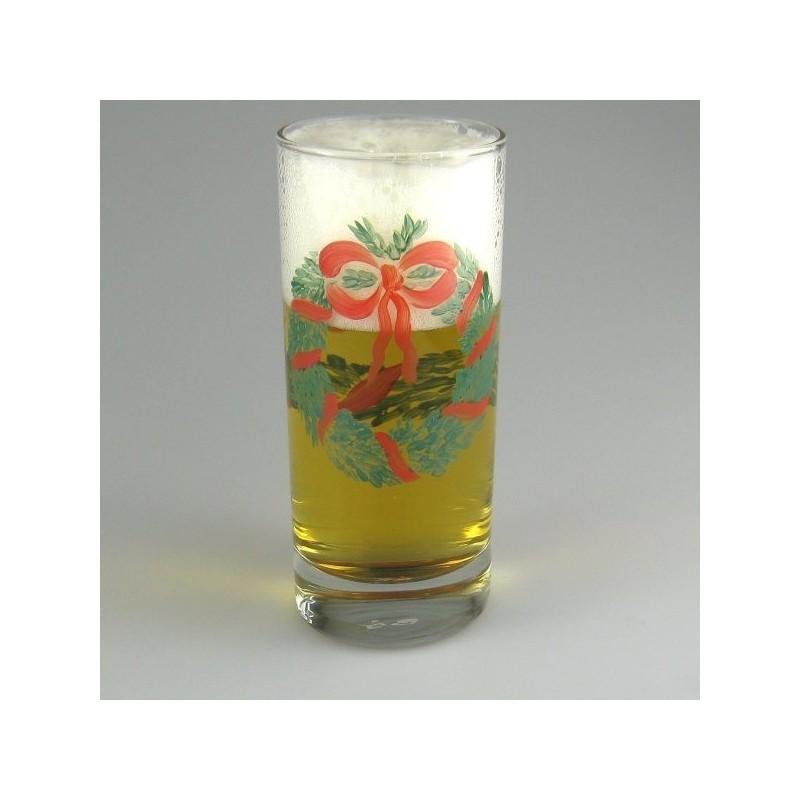 Ølglas / longdrinkglas med julemotiv