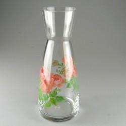 Håndmalet karaffel (1 liter) med roser