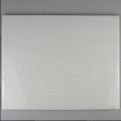 25 x 20 cm - Firkantet dørskilt UDEN huller i porcelæn