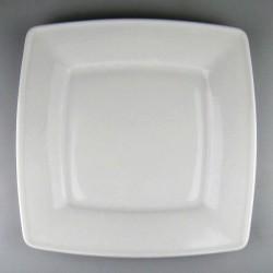 Firkantet flad tallerken 26 cm med monogram
