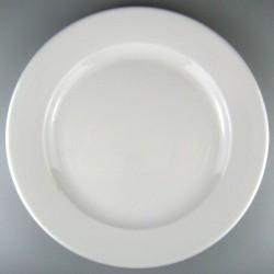 Rund flad tallerken 30 cm med monogram