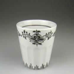 Tandkrus i porcelæn med håndmalet dekoration Nostalgi (Model F)