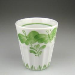 Tandkrus i porcelæn med håndmalet dekoration Sommerfugl (Model F)