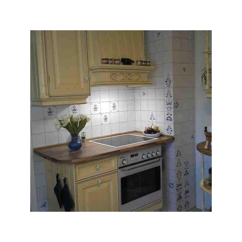 Køkken med spredte Nostalgi-fliser