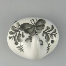 Håndmalet enkelt knage i porcelæn med dekoration Sommerfugl