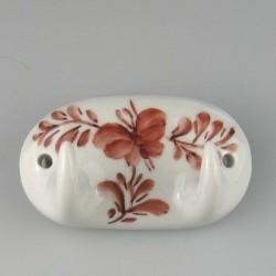 Håndmalet dobbelt porcelænsknage med dekoration Sommerfugl