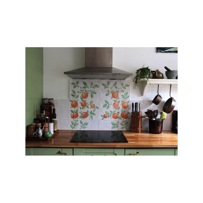 Appelsin-frise bag komfur