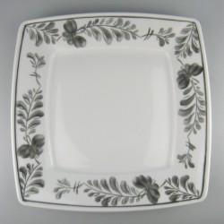 21 cm - Håndmalet tallerken / sidetallerken med Sommerfugle-dekoration