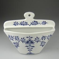 Kaffefilterholder i håndmalet porcelæn med dekoration Blå Nostalgi