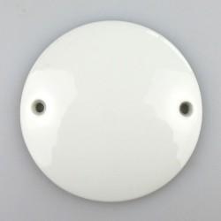 7,3 cm - Rundt skilt i porcelæn med navn / tekst