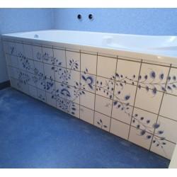 Fliser til badekar - badekarfront - badekar fliser håndmalet i Nostalgi-mønster