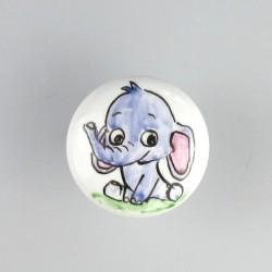 Elefantunge / babyelefant på knop til børneværelset