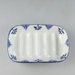 Sæbeskål i porcelæn med håndmalet Nostalgi-motiv