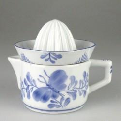 Citruspresser i håndmalet porcelæn med Sommerfugledekoration