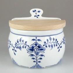 Væghængt saltkar i porcelæn med håndmalet dekoration Nostalgi