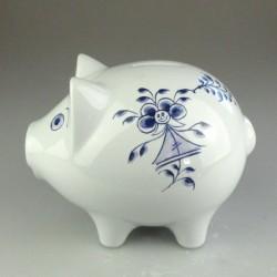 Håndmalet porcelæns sparegris (stor) med dekoration Nostalgi-pige