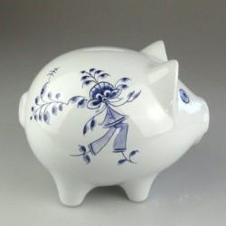 Håndmalet porcelæns sparegris (stor) med dekoration Nostalgi-dreng