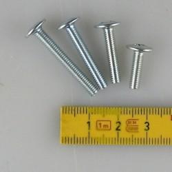 Grebsskruer / grebsbolte (M4) til porcelænsknopper