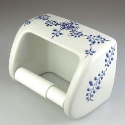 Toiletrulleholder i håndmalet porcelæn med dekoration Nostalgi