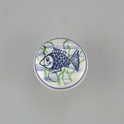 Knage af porcelæn med fisk til børneværelset eller badeværelset