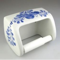 Toiletrulleholder i håndmalet porcelæn med sommerfuglemotiv