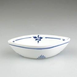 Lille bådformet serveringsskål i porcelæn til appetizers, tapas, delikatesser, smagsprøver og salt - Nostalgi-dekoration