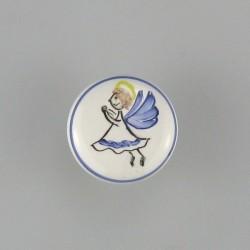 Porcelænsknage med engel til badeværelset eller soveværelset