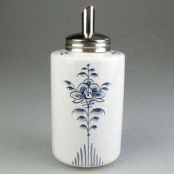 Sukkerdispenser i håndmalet porcelæn med dekoration i blå Nostalgi