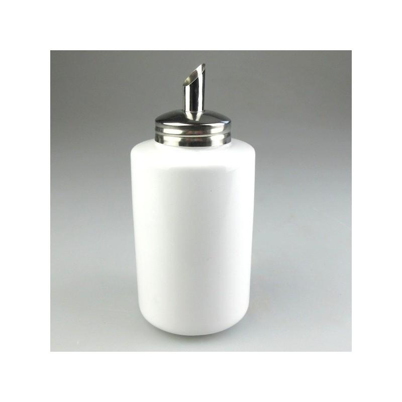 Sukkerdispenser i hvidt porcelæn