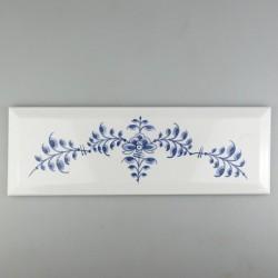 Håndmalet metroflise - 30 x 10 cm - med Nostalgi dekoration