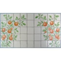 Frise med appelsiner (45 fliser)