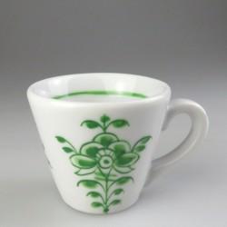 Espresso kop med håndmalet dekoration i grøn Nostalgi (model EA)
