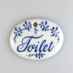 """Toilet-skilt med dekoration """"Nostalgi-kvist"""" og 1 skruehul, mål 5,6 x 4,5 cm"""