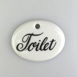 Toilet-skilt med 1 skruehul, mål 5,6 x 4,5 cm