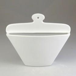 Kaffefilterholder i hvidt porcelæn