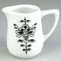 Lille håndmalet porcelænskande (0,1 l) med sort dekoration i Nostalgi-motiv
