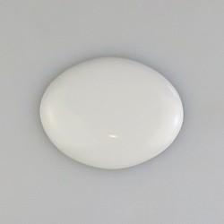 5 x 4 cm - Ovalt skilt UDEN skruehuller i porcelæn