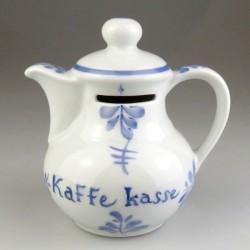 Kaffekasse - sparebøsse i håndmalet porcelæn med Sommerfuglemotiv